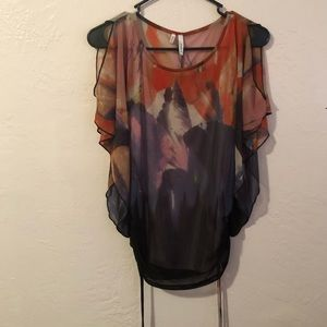 Multi Color patterned blouse